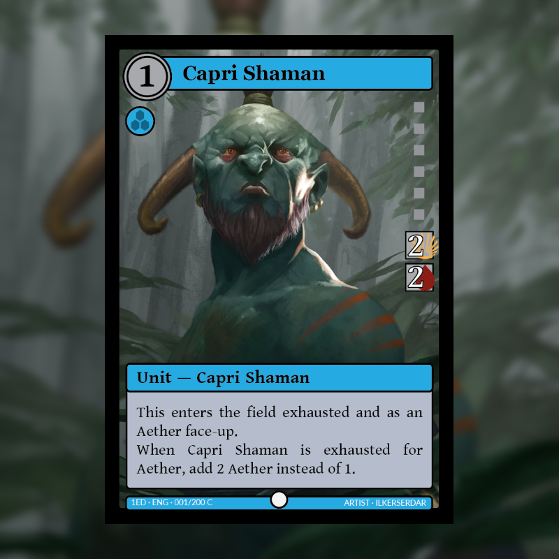Big Update & Card of the Day: Capri Shaman