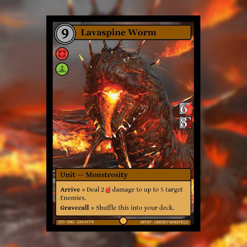 Card of the Day: Lavaspine Worm