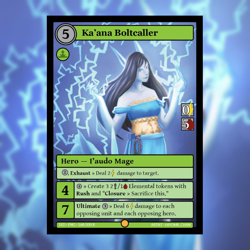 Card of the Day: Ka'ana Boltcaller (Official Art)